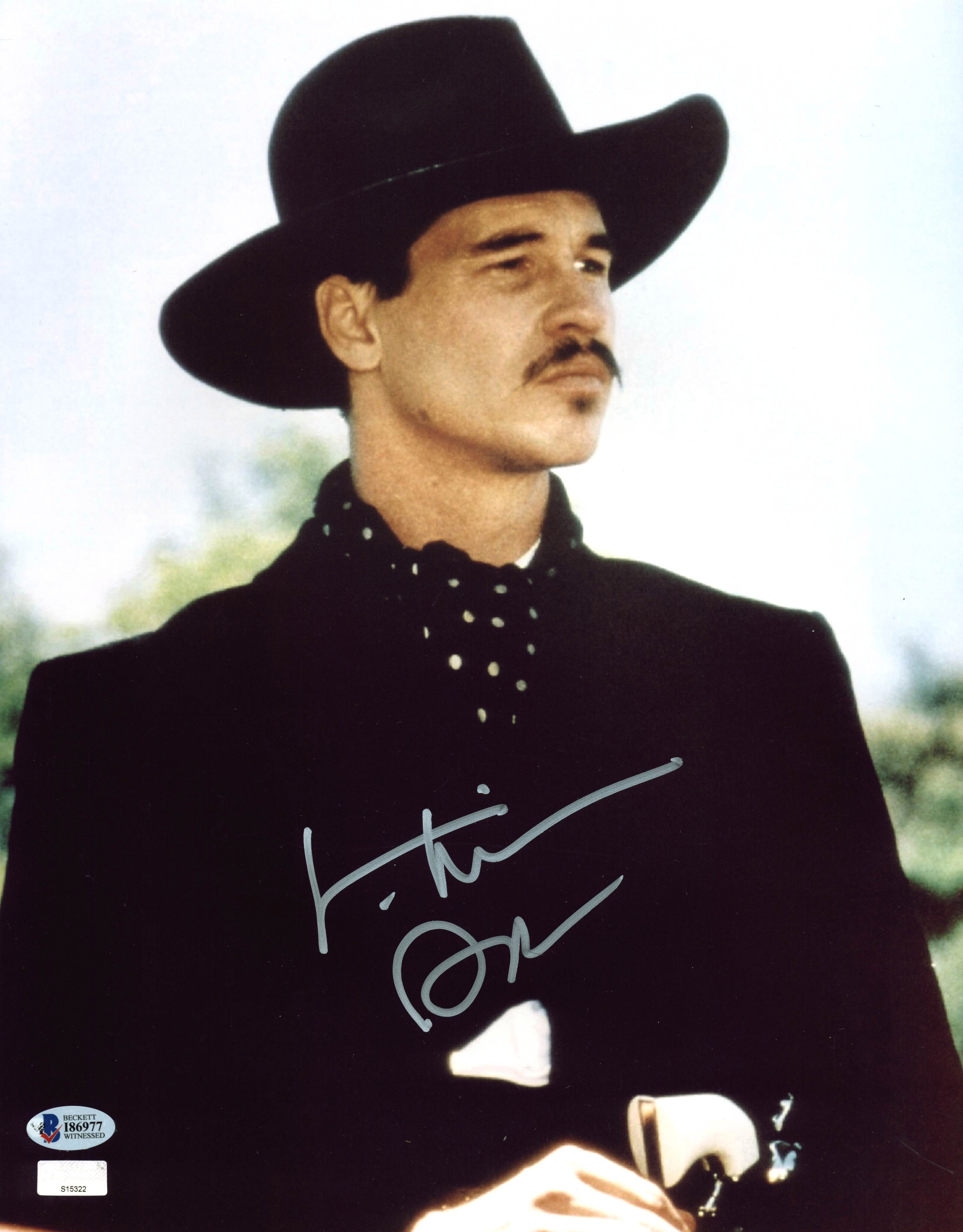 Val Kilmer Tombstone Authentic Signed 11x14 Photo BAS Witnessed 3