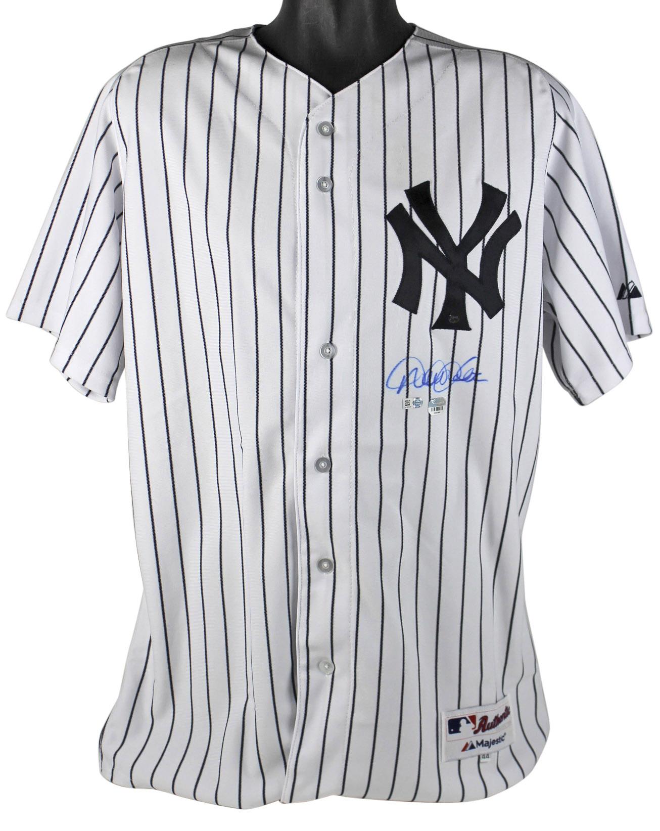 Yankees Derek Jeter Signed Pinstripe Majestic Authentic Jersey MLB & Fanatics