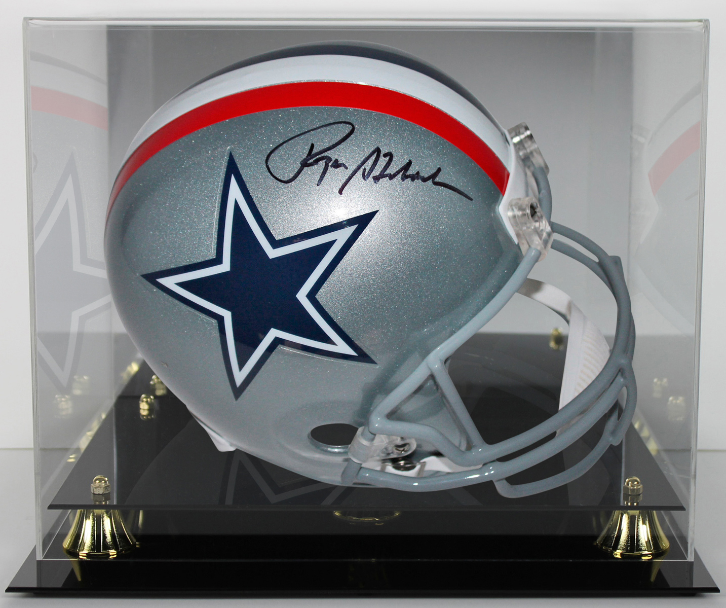 edeae064f Details about Cowboys Roger Staubach Signed Throwback Full Size Rep Helmet  w  Case JSA Witness