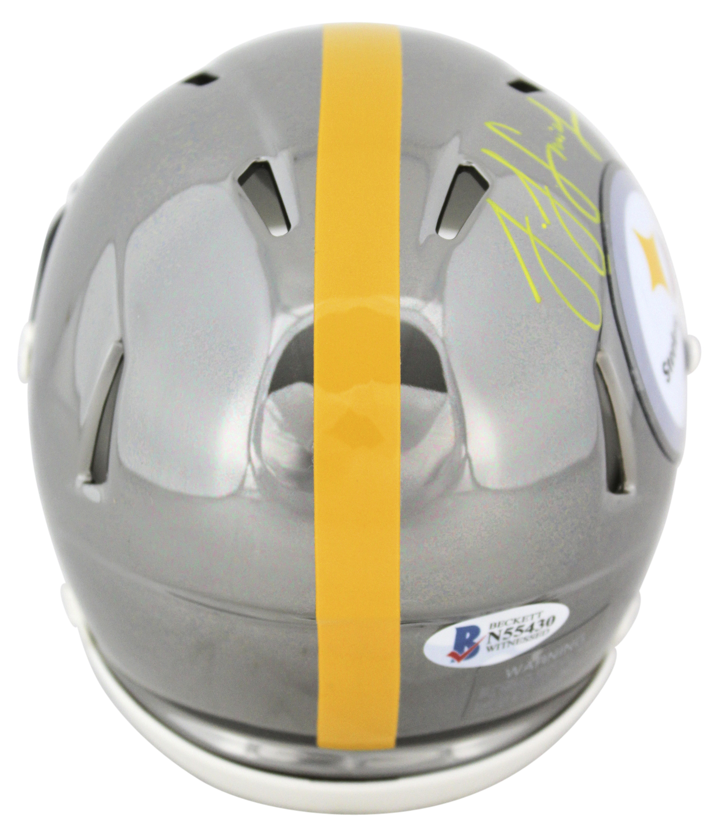 Steelers JuJu Smith-Schuster Authentic Signed Chrome Mini