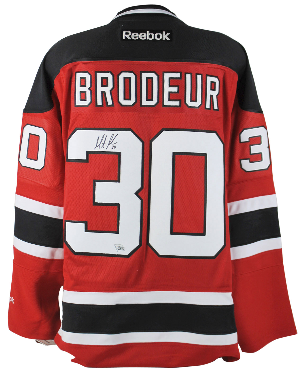 Devils Martin Brodeur Authentic Signed Red Reebok Jersey Fanatics COA #A310383