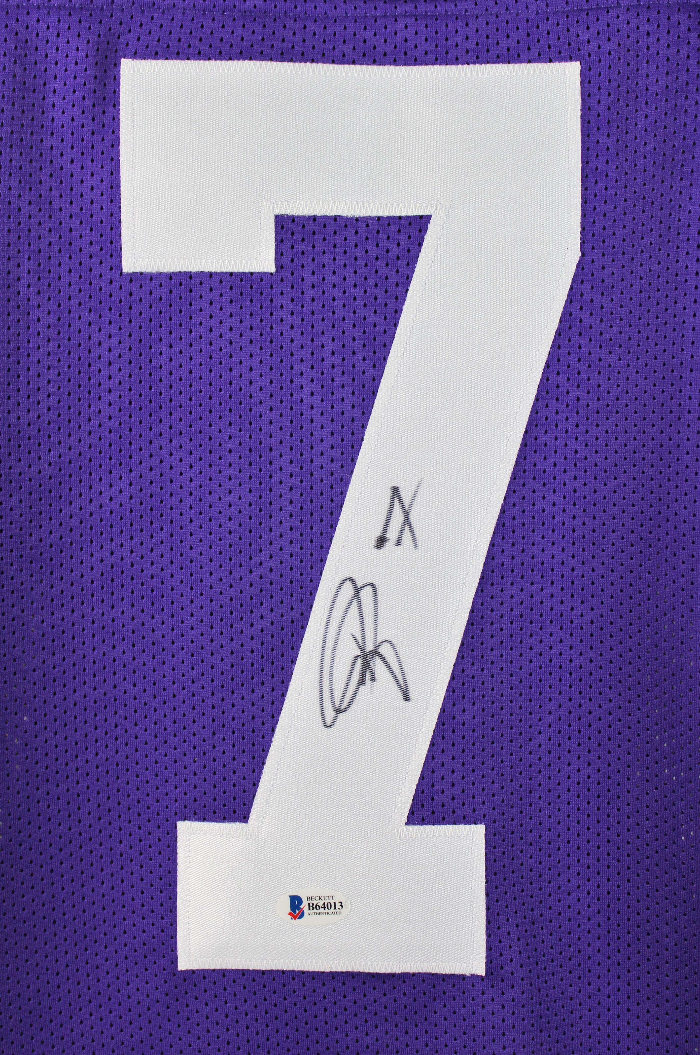 4095e4e14 LSU Patrick Peterson Authentic Signed Purple Jersey BAS  B64013