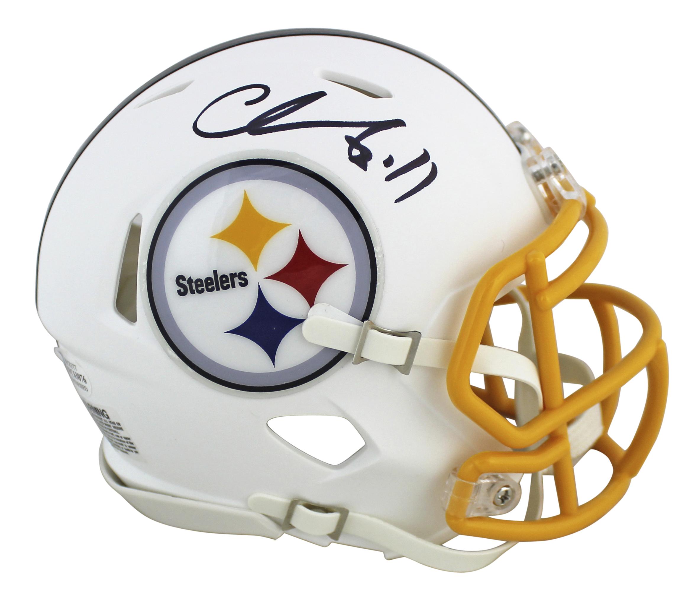 Chase Claypool Autographed Pittsburgh Steelers Mini Football Helmet BAS COA