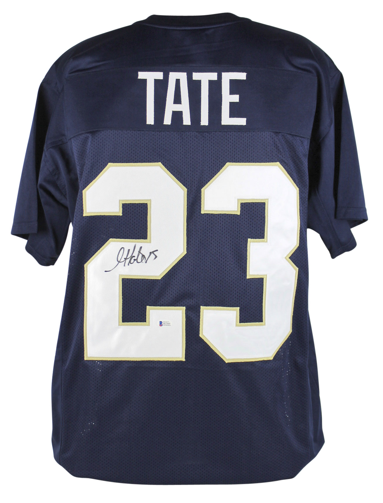 a9a4d5765  139.99 - Notre Dame Golden Tate Authentic Signed Navy Blue Jersey ...