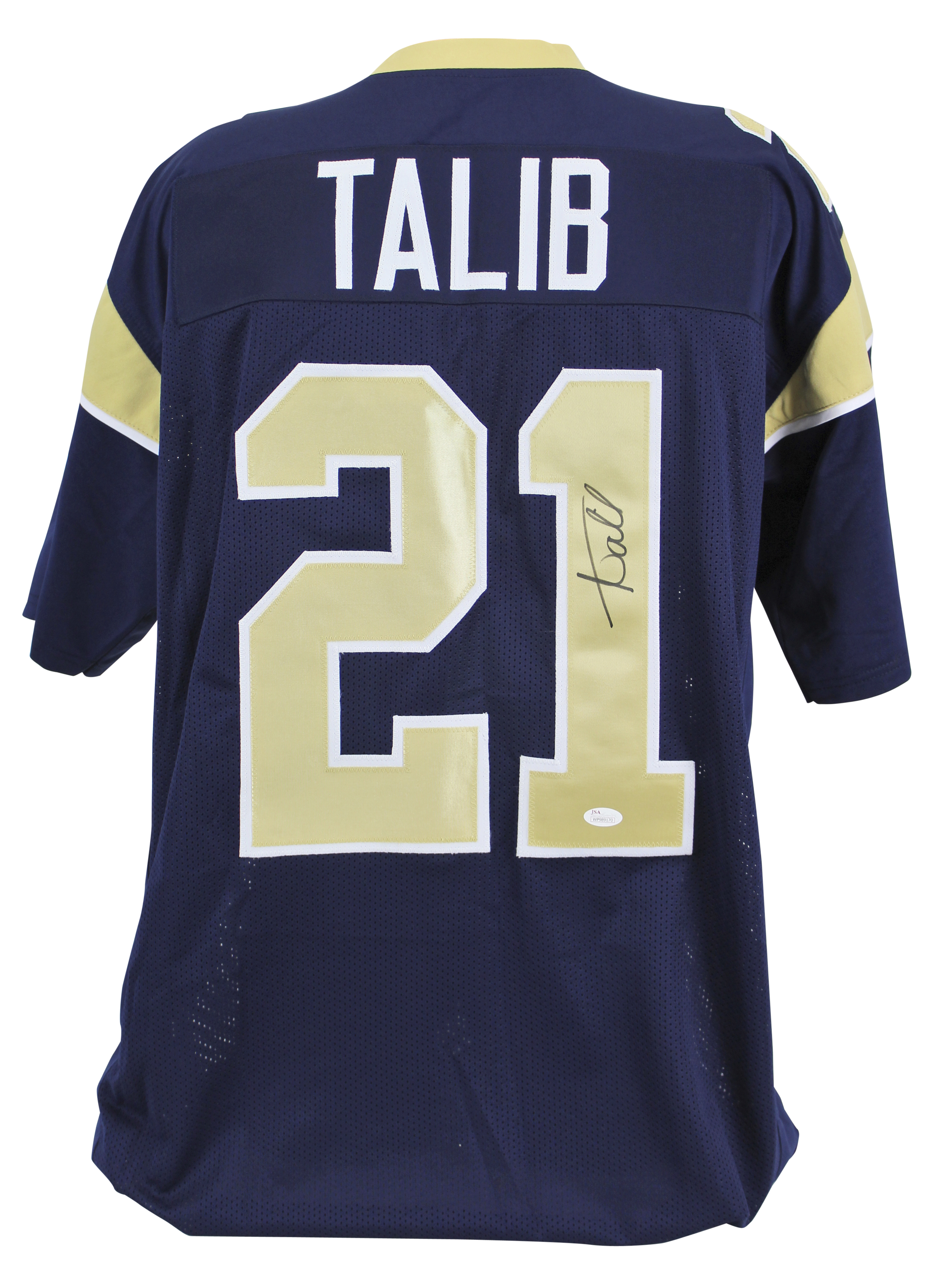 timeless design 8a7f6 1c745 Details about Rams Aqib Talib Authentic Signed Navy Jersey Autographed JSA  Witness