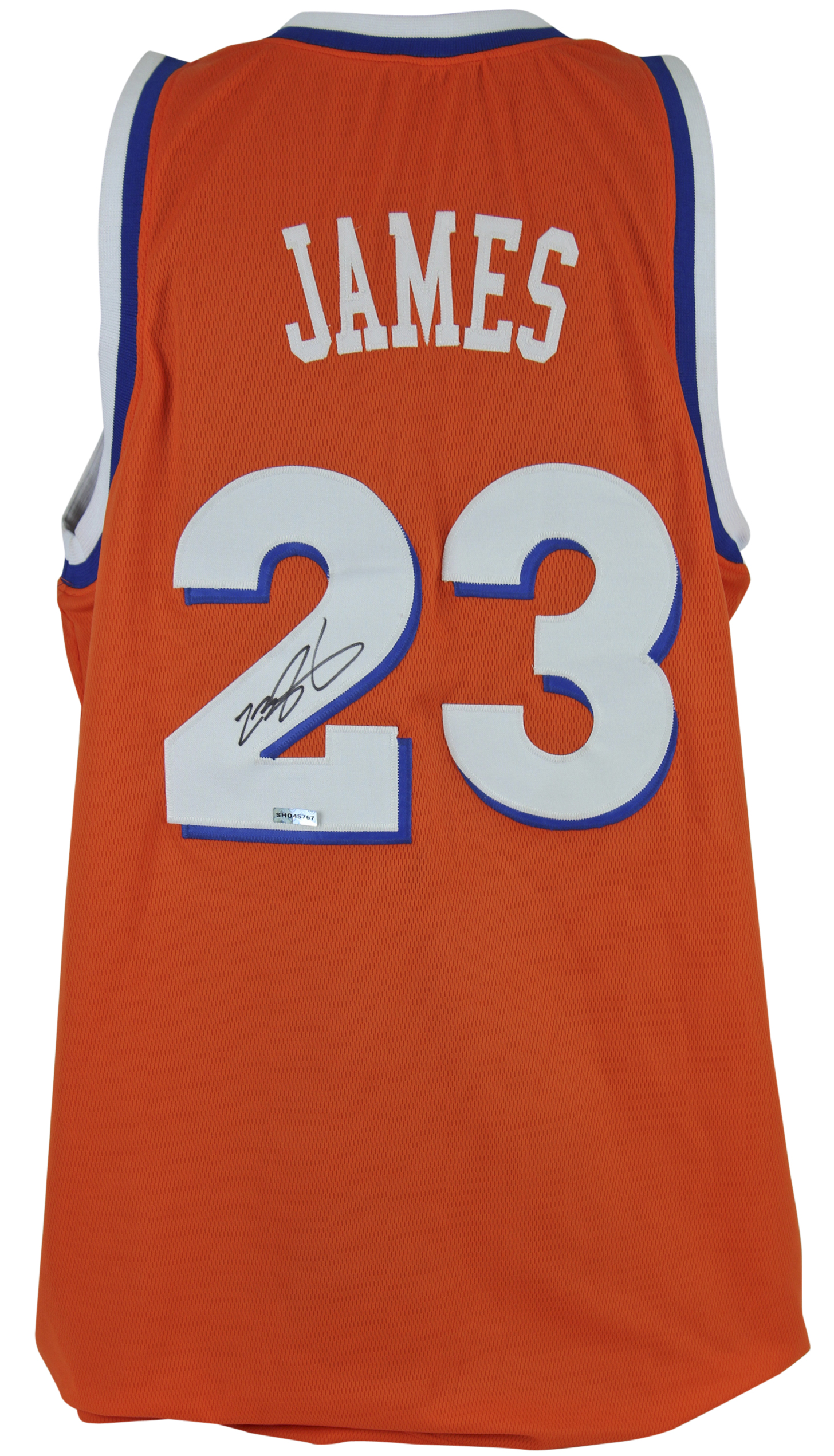reputable site b4804 f2e6f Cavaliers LeBron James Authentic Signed Orange Throwback Jersey UDA  #SHO45767 | eBay