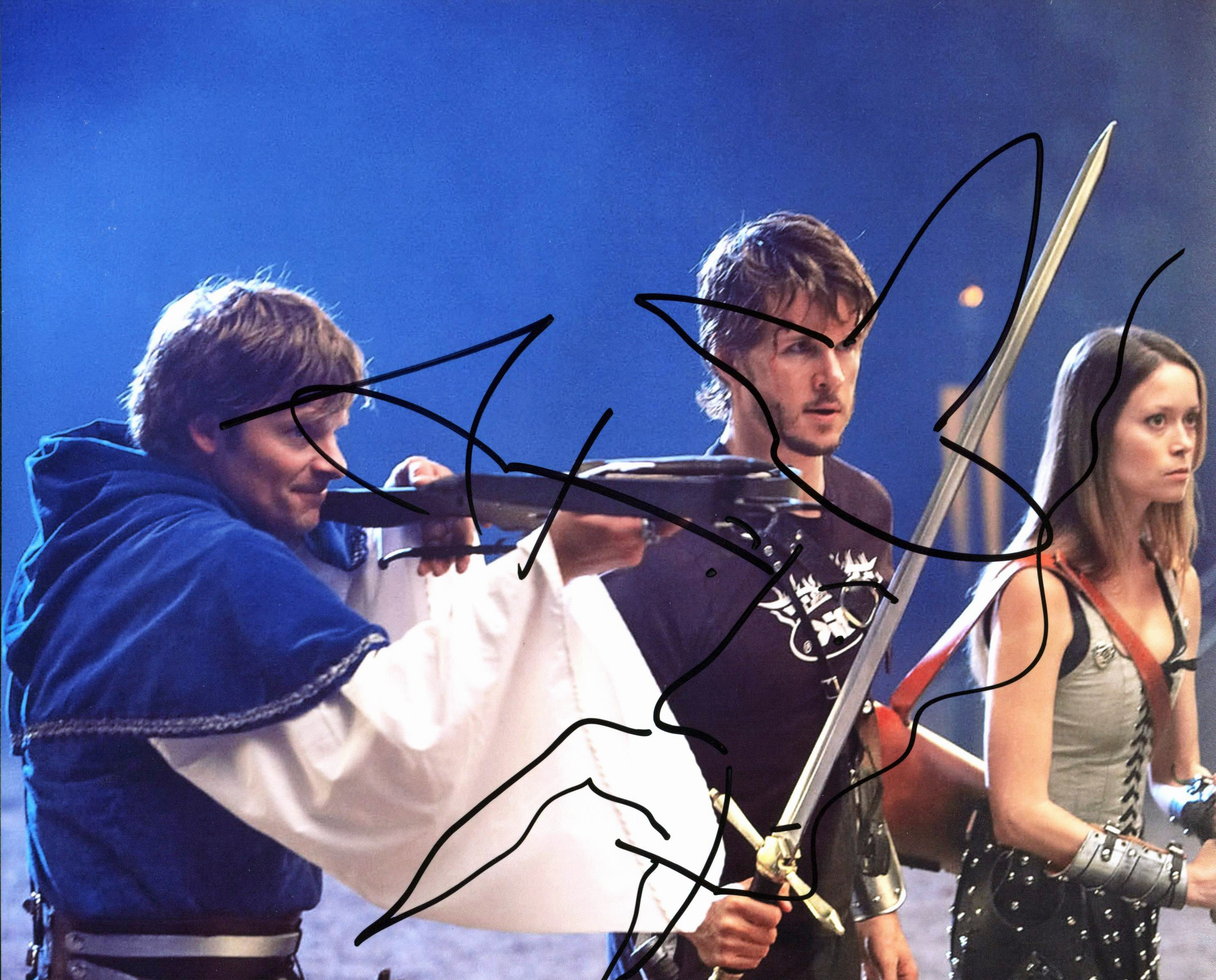 Steve Zahn Knights of Badassdom Signed 8x10 Photo w/ Wizard Sketch BAS #D05879