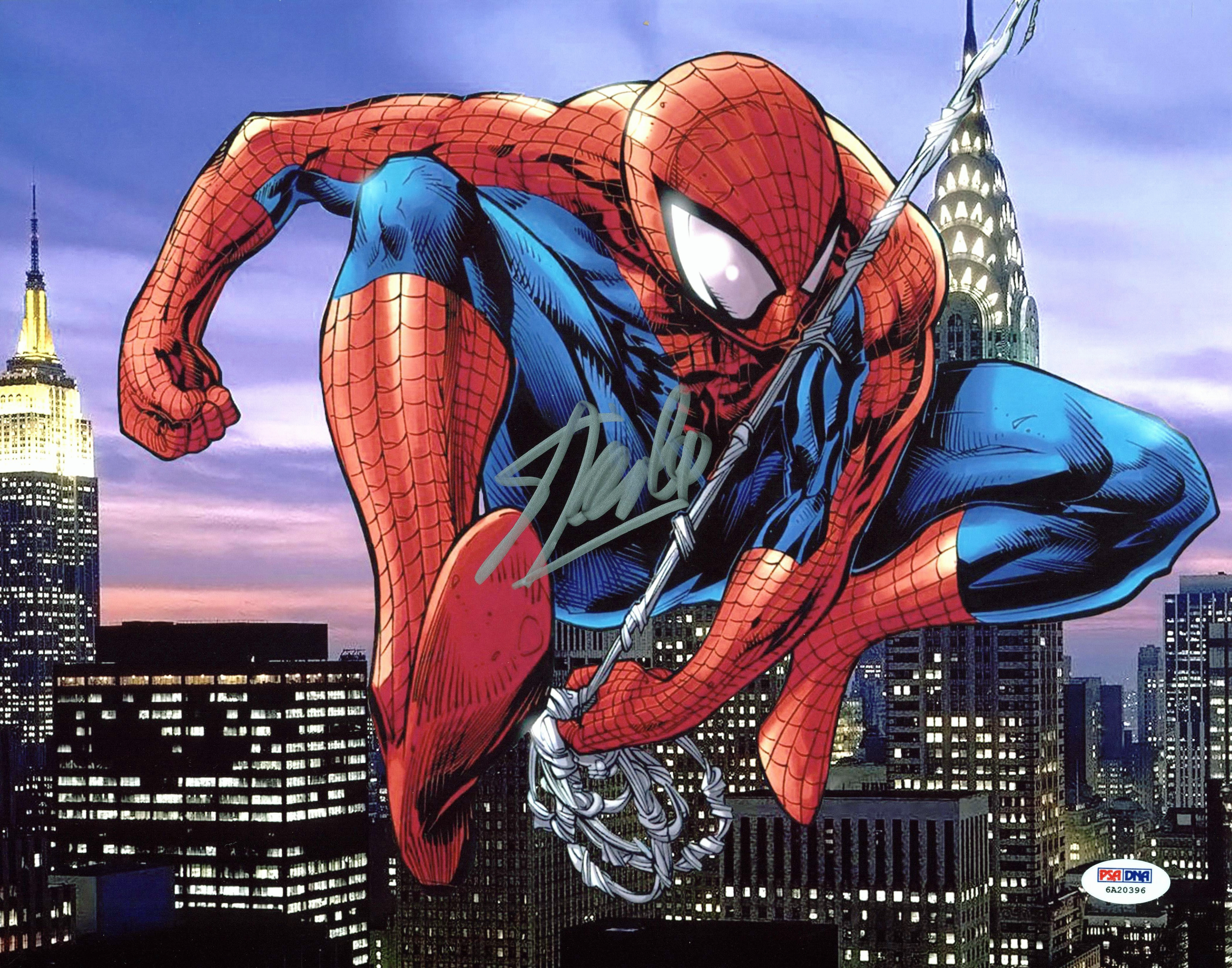 Stan Lee The Amazing Spider-Man Authentic Signed 11x14 Photo PSA/DNA Itp 6A20396