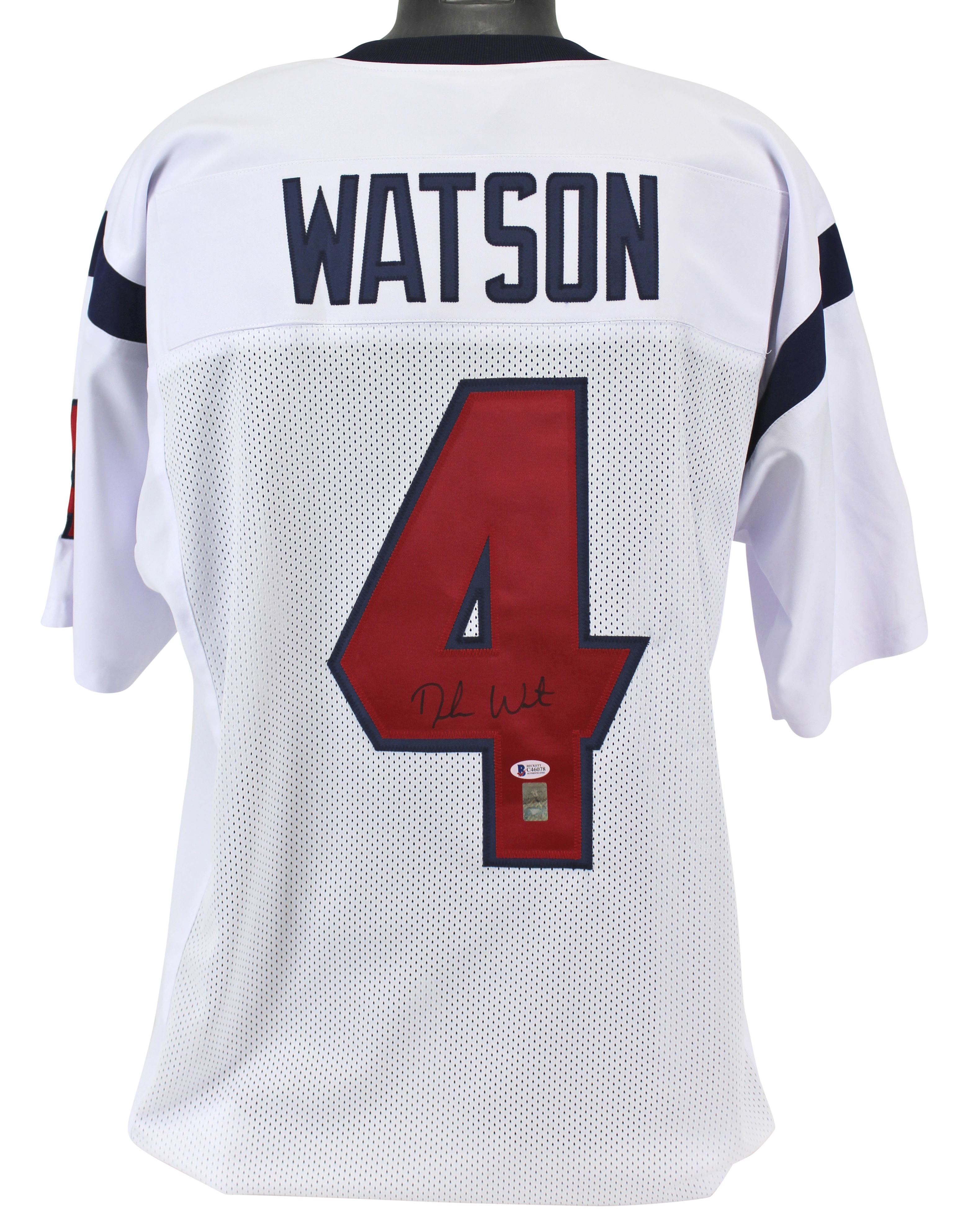 428f84ecf Image is loading Texans-Deshaun-Watson-Authentic-Signed-White-Jersey- Autographed-