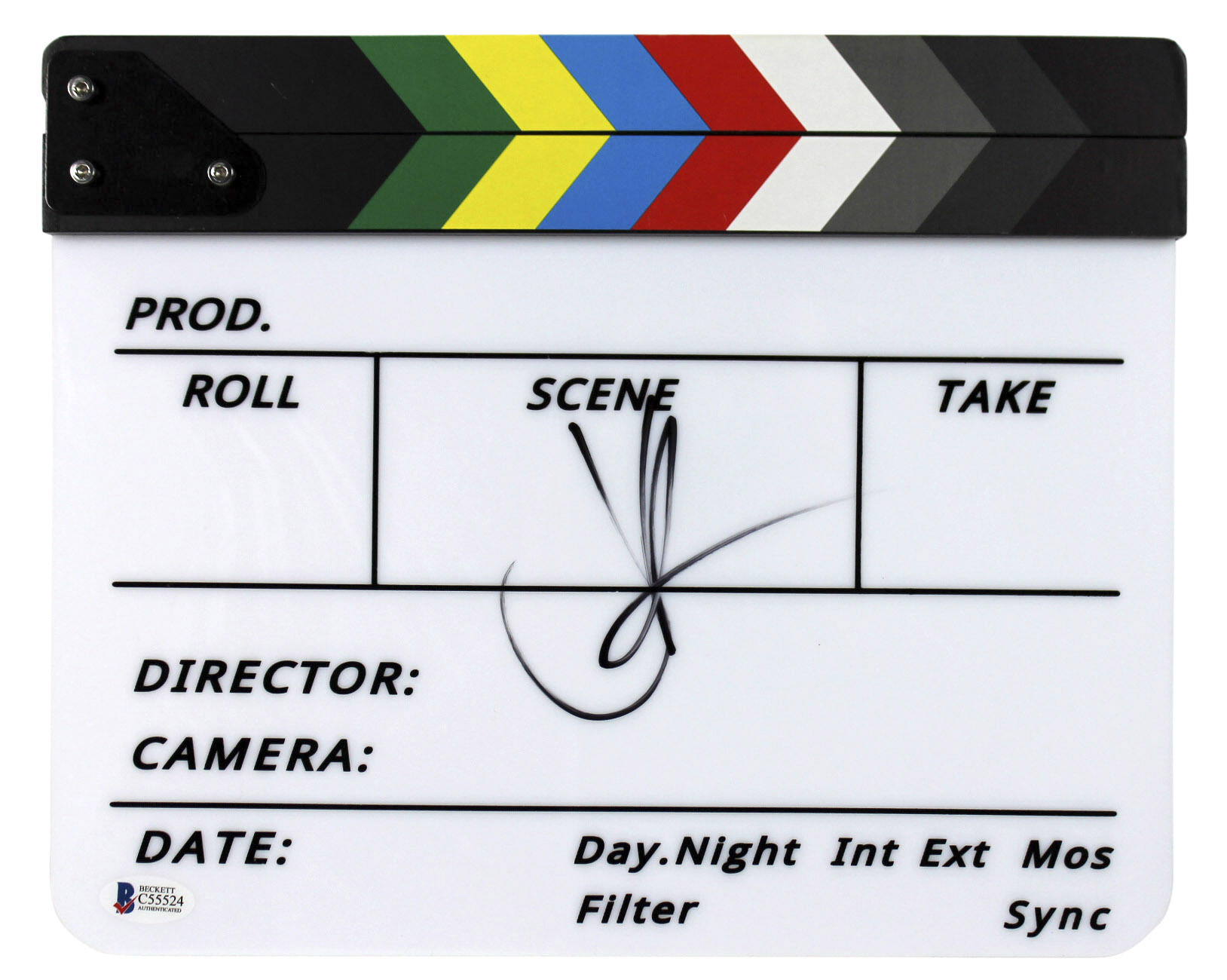 J.J. Abrams Star Wars The Force Awakens Signed Movie Clapboard BAS #C55524