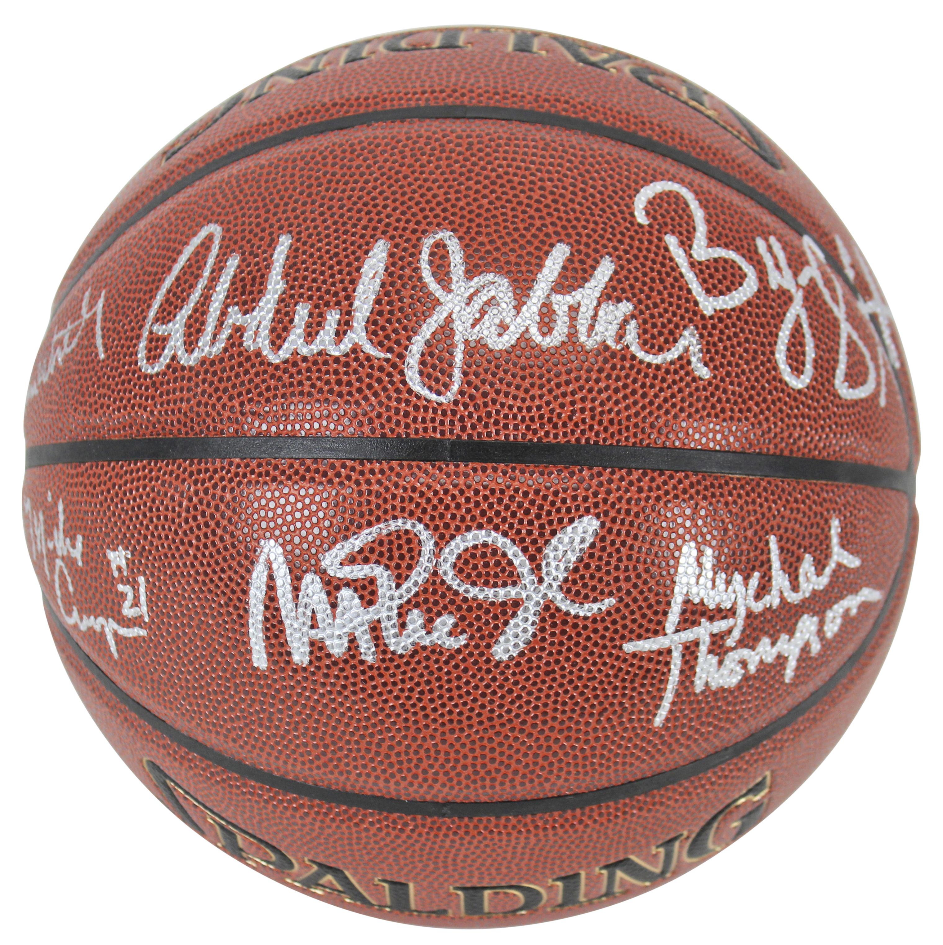 1c8ec047 Lakers Showtime (6) Magic, Jabbar, Worthy, Scott Signed Basketball ...