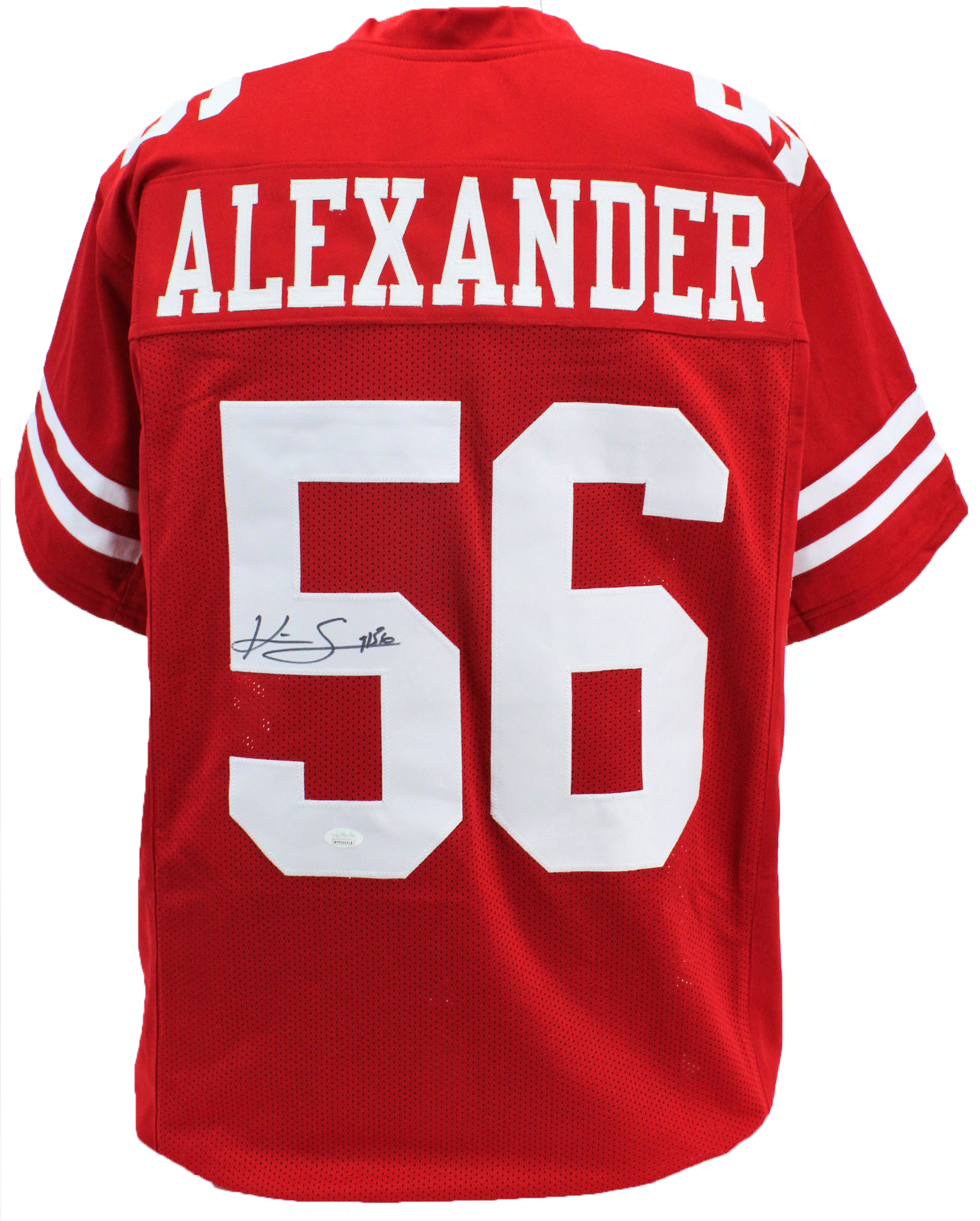 competitive price 435f1 a37cd Details about 49ers Kwon Alexander Authentic Signed Red Jersey Autographed  JSA Witness