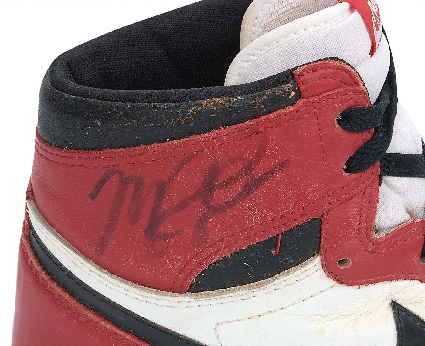 828b1ef6fa0993 Bulls Michael Jordan Signed 1985 Original Air Jordan I Sneakers JSA ...