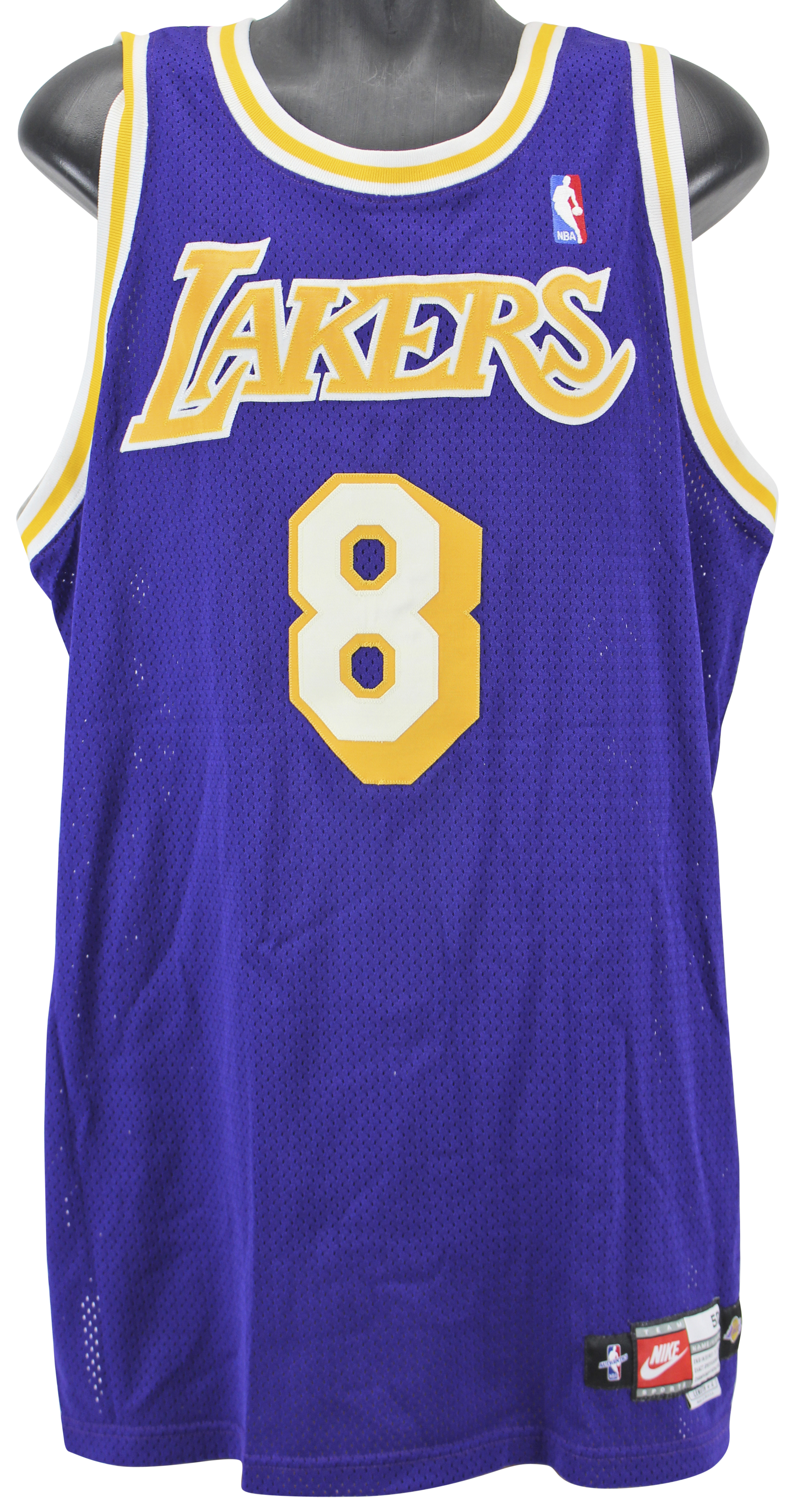 0d8f10a8587 Lakers Kobe Bryant 1998-99 Game Used Nike Jersey MEARS   Grey ...