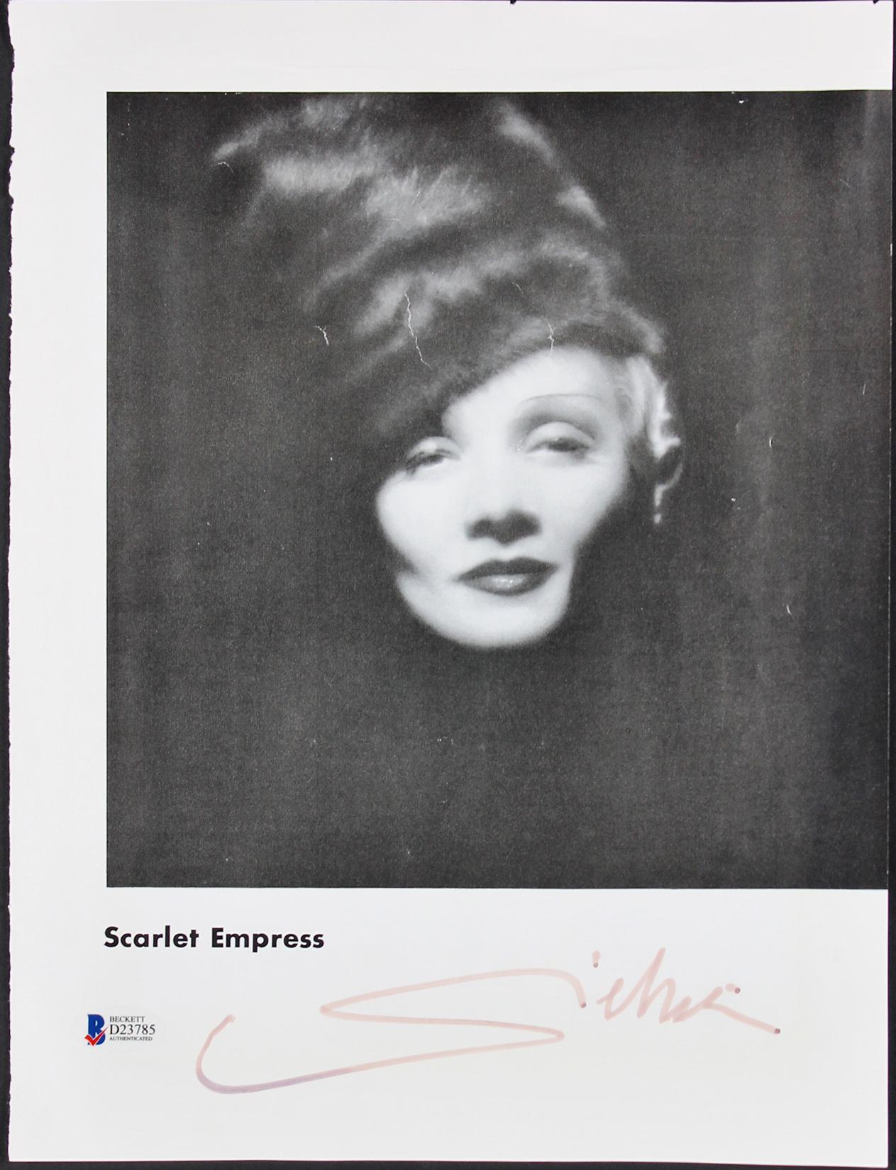 02a936e9103 $149.99 - Marlene Dietrich Scarlet Empress Signed 9.25X13.25 Magazine Photo  BAS #D23785