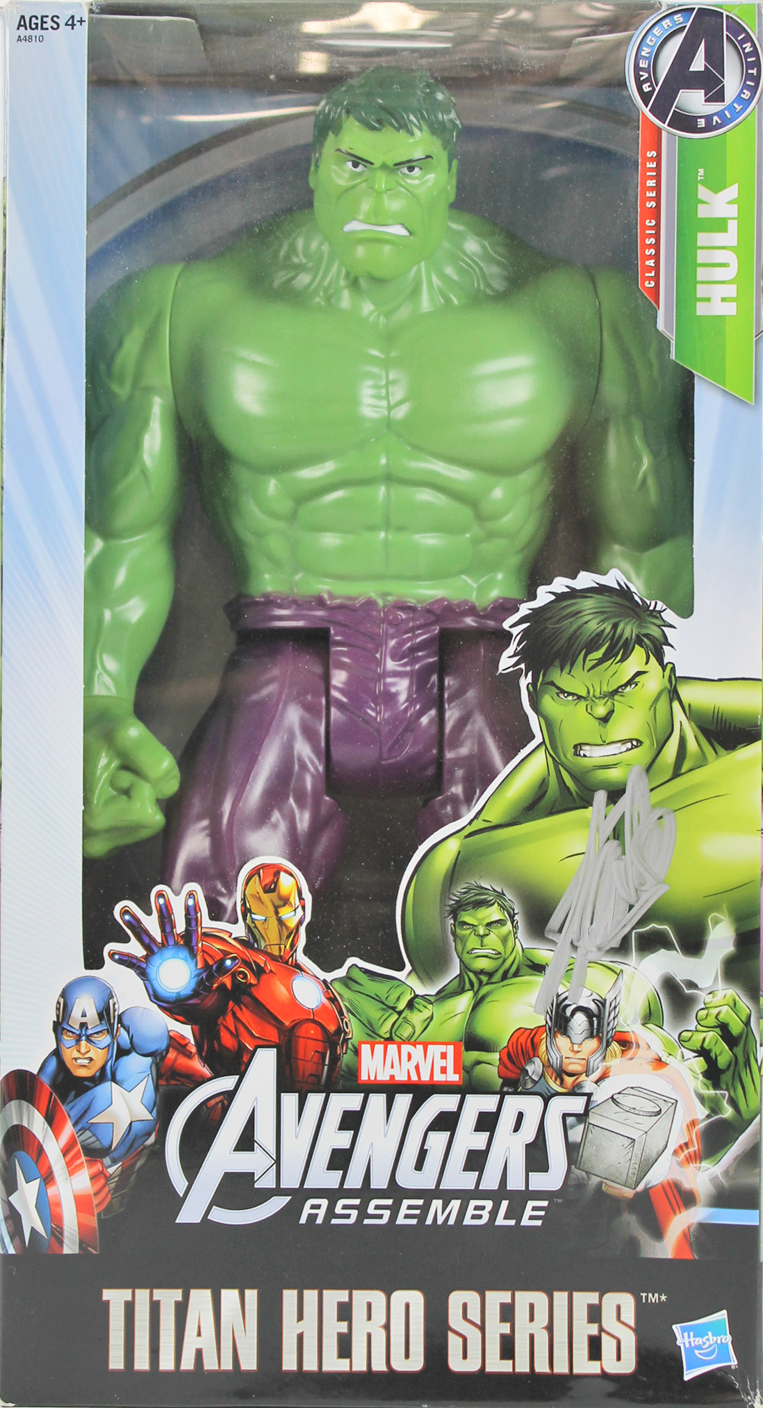 Stan Lee Marvel Signed The Hulk Titan Hero Series Action Figure PSA #6A20983
