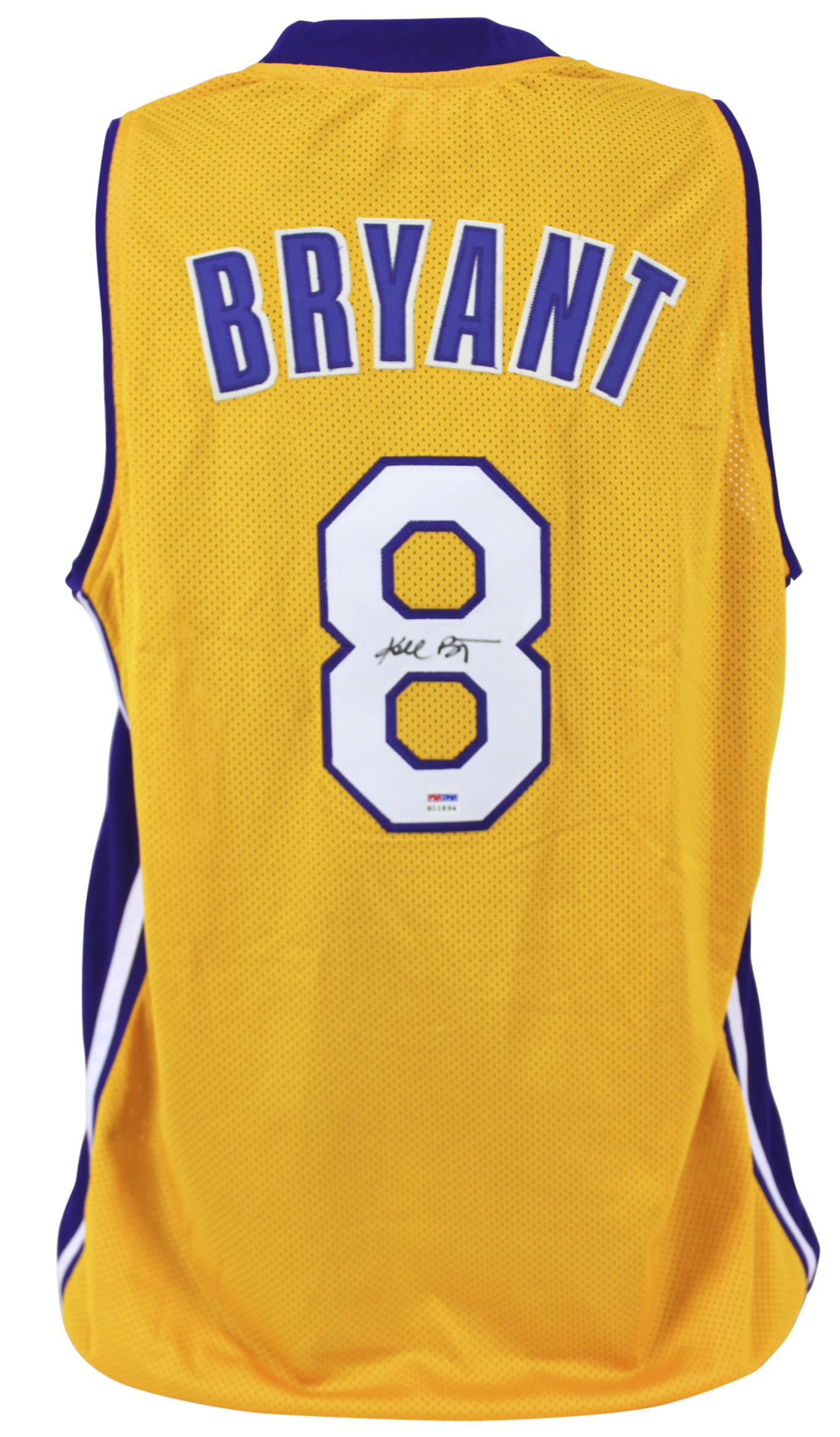 c5d8e6d376a Details about Lakers Kobe Bryant Authentic Signed Yellow Jersey Rookie  Signature PSA  B11894