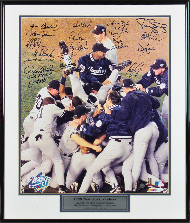1998 Yankees (21) Jeter, Rivera, Torre Signed 16x20 Framed Photo LE #15/250 JSA