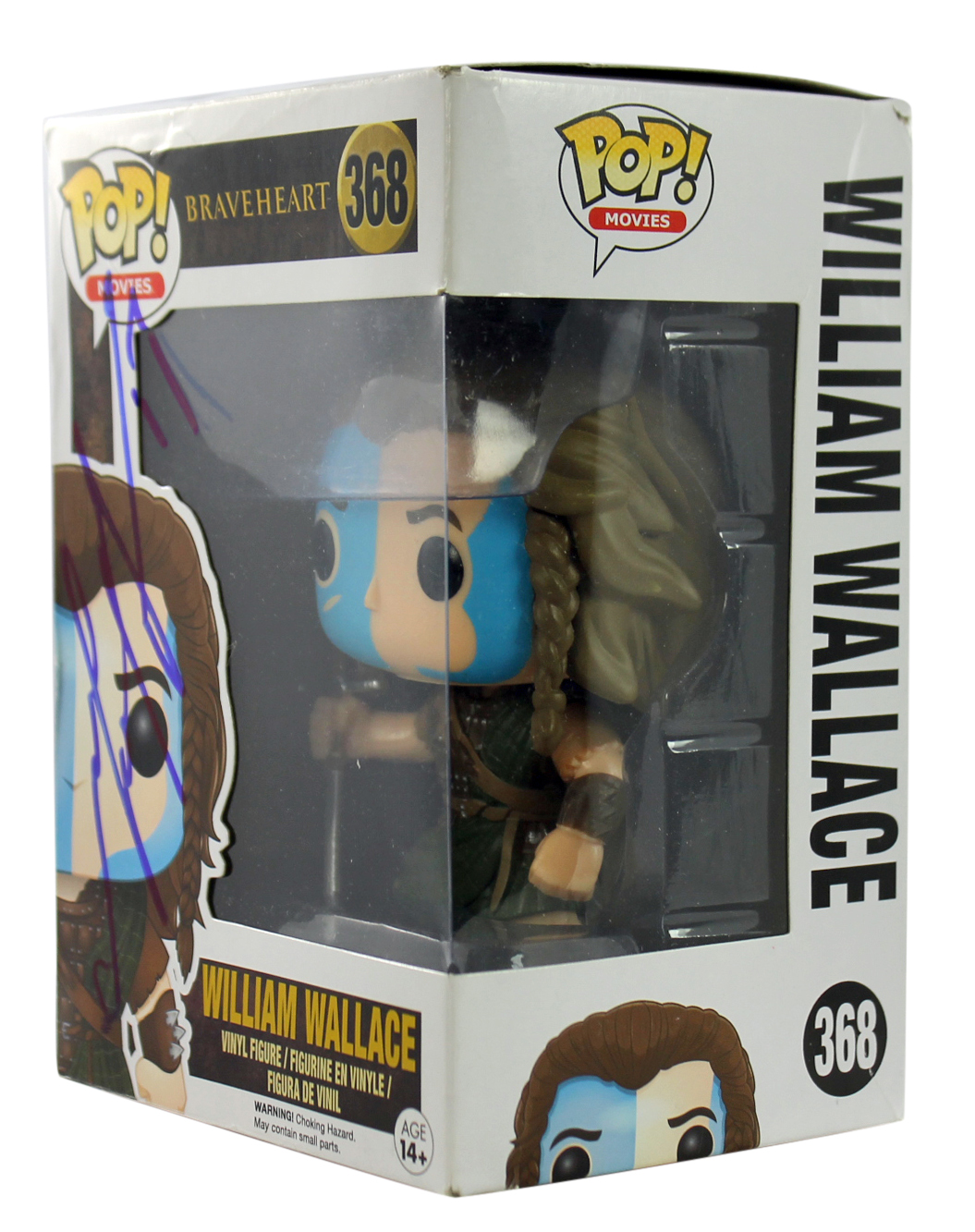 Mel Gibson Braveheart Signed William Wallace Funko Pop Vinyl Figure BAS #C63654