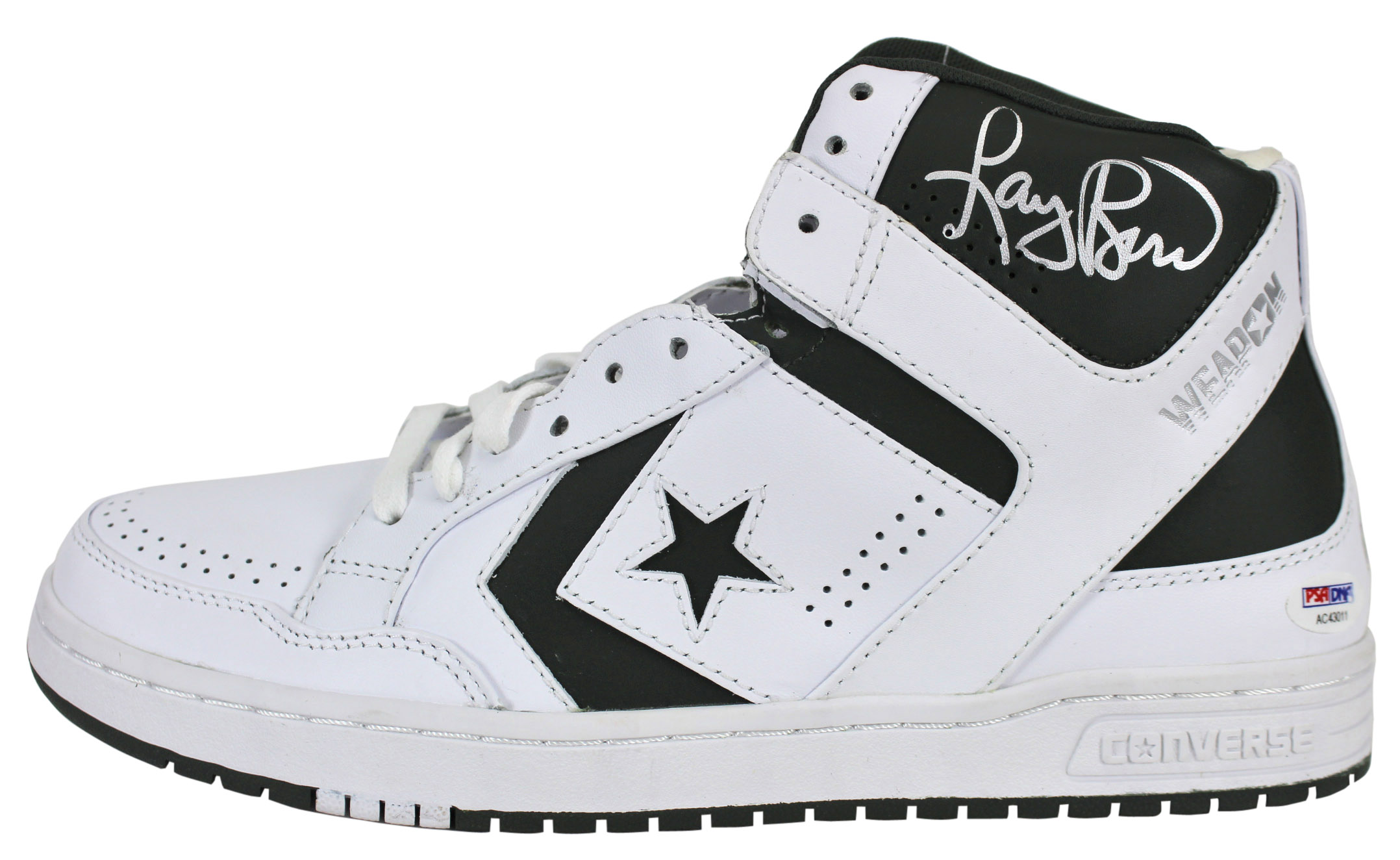 fa3e71839ee6 Celtics Larry Bird Signed White Converse Game Model Shoes PSA DNA ...