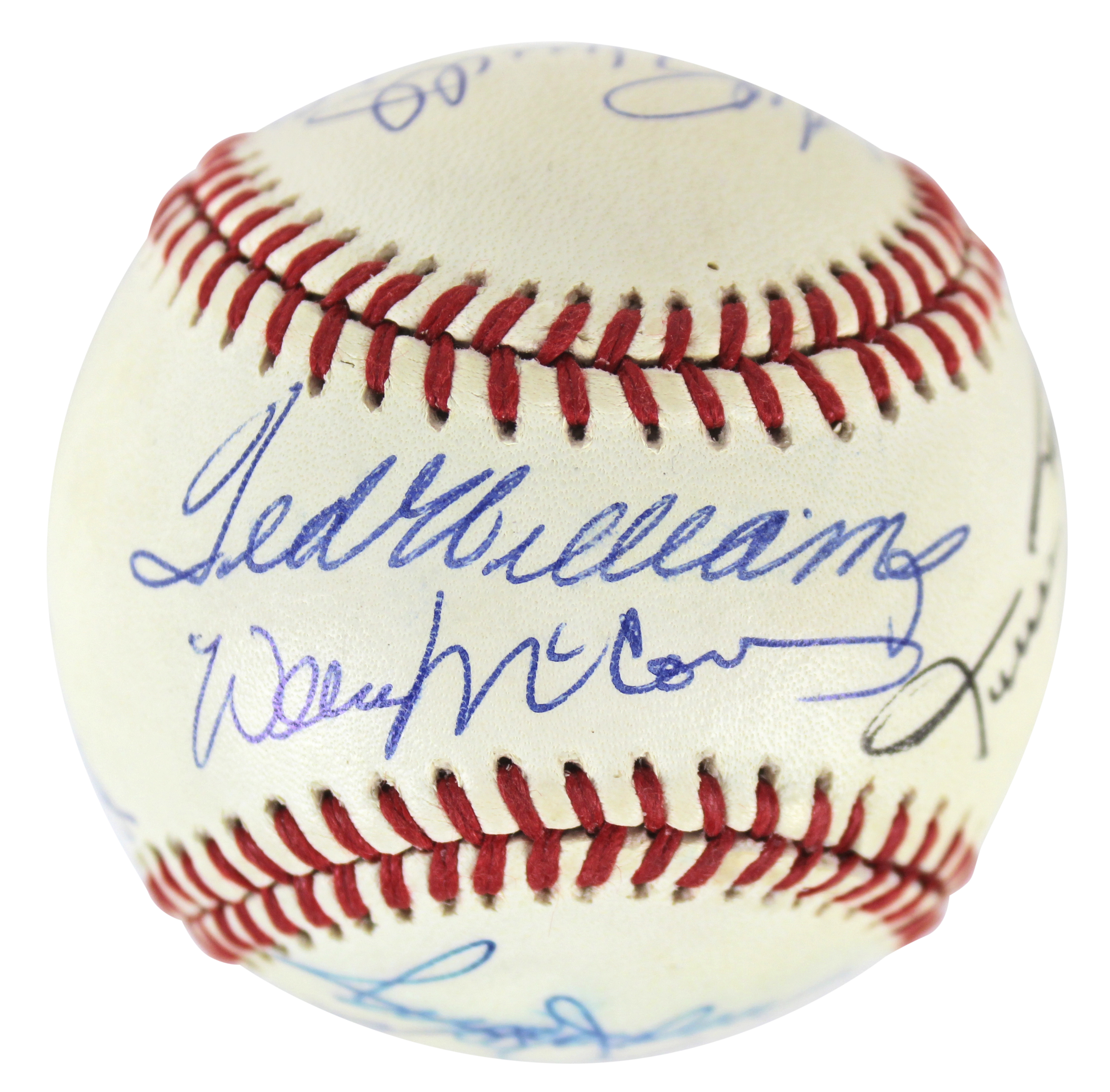 500 Hr Club (11) Williams, Mantle, Aaron Signed Oal Baseball Jsa #z69160
