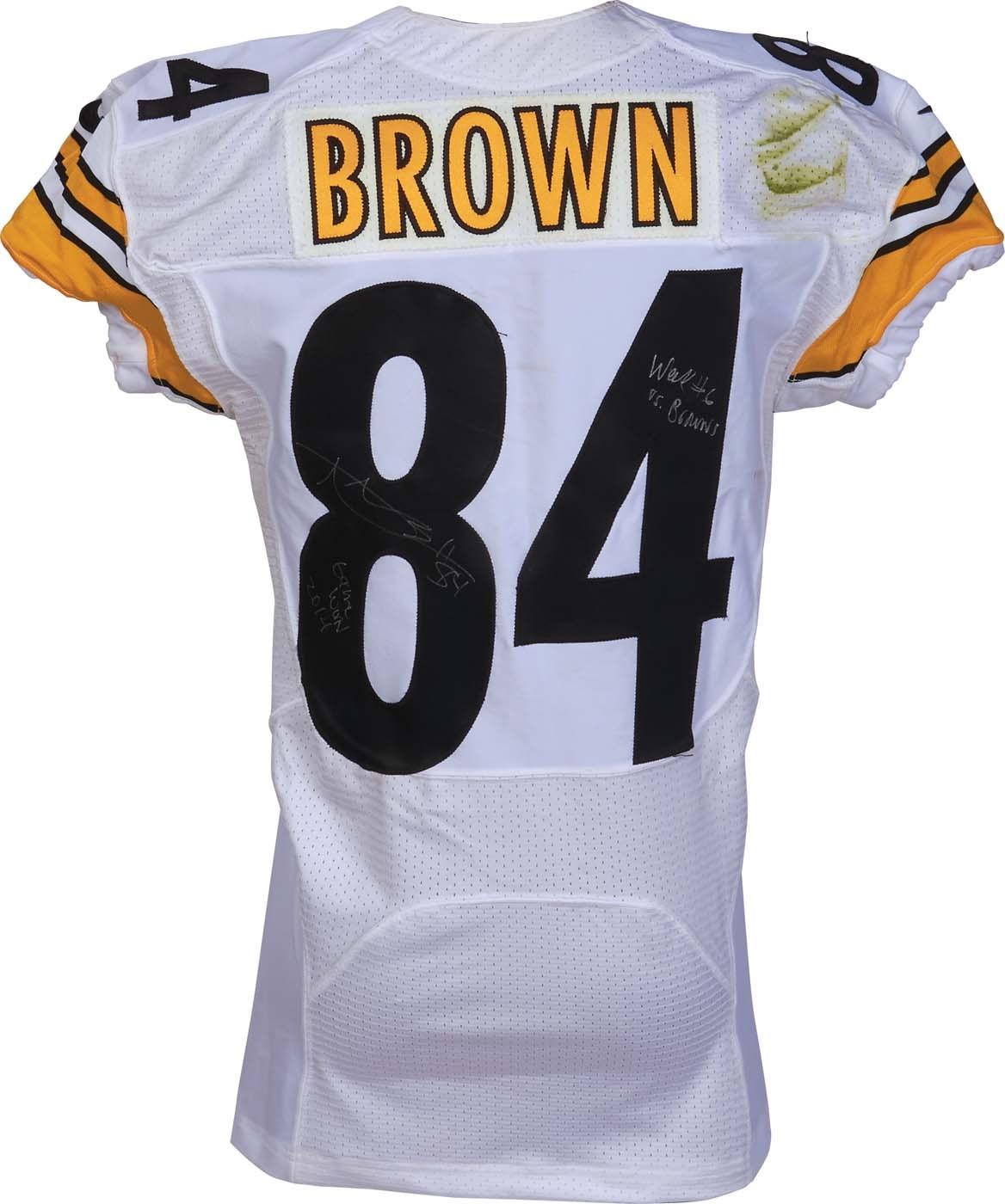 Steelers Antonio Brown Game Worn 2014 Week  6 vs Browns Signed ... 2f8363138
